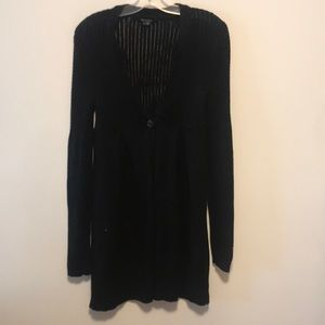 Theory sz s black knit open cardigan black